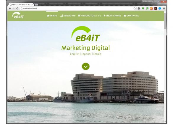 eb4it landing page - web design