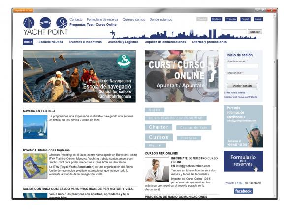 Drupal nautical web site